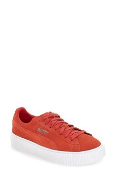 Free shipping and returns on PUMA Suede Platform Sneaker (Women) at Nordstrom.com. A chunky platform cupsole and metallic PUMA logos give this classic suede sneaker a modern, skater-inspired attitude.