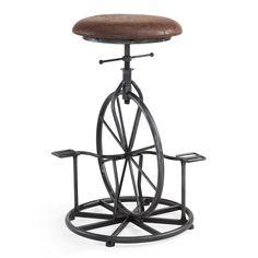 Harlem Adjustable Industrial Metal Bicycle Barstool.  How cool!