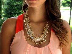 Amazing Crystal Link Statement Necklace. Starting at $10 on Tophatter.com!