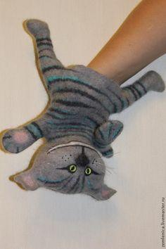 """Кукольный театр ручной работы. Игрушка на руку """"Кот Матроскин, кот рыжик, чеширский кот"""". Евгения. Ярмарка Мастеров."""
