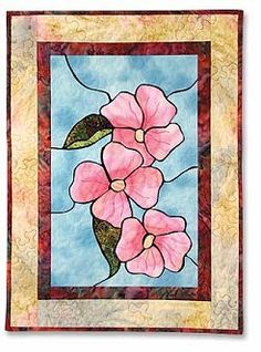 stained glass dogwood patterns free | New Victorian Style Stained Glass Quilt Patterns - Punch with Judy