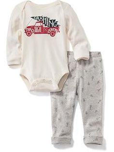 0c7c764c76d4 Holiday Bodysuit and Legging Set for Baby