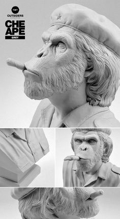 Che Ape - Resin Bust Sculpture - Grey on Behance