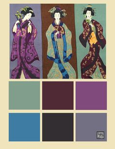 Geishas & Ginkgo Quilts by Lonni Rossi