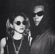Madonna & Grace Jones, 1980's, at Studio 54.