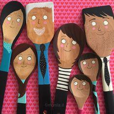 Monila Handmade,cucchiai di legno,illustrazione,i ghirigori di Monila