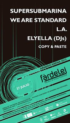Supersubmarina, L.A, We are standard en otros en el Festival Fardelej Music de Arnedo (La Rioja) | El Mundo de Tulsa