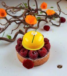 Tartelettes framboises yuzu - Les desserts de JN Desserts To Make, Dessert Recipes, Entremet Recipe, Mini Tart, Cake & Co, Cake Cookies, Birthday Candles, Biscuits, Bakery