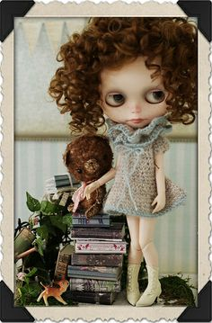 Poppet and Figaro by Ragazza #dolls #dollies #blythe #handmade