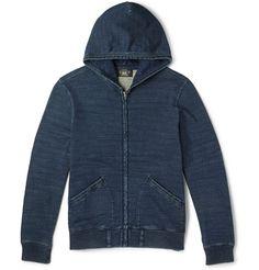 RRL - Washed Cotton-Jersey Hoodie|MR PORTER