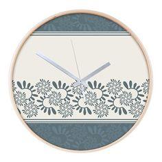 "Ornament ""Smoky"" Wall Clock Ornament ""Smoky"" vegetable, gray-blue color  $59.79"