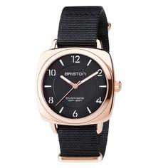 Clubmaster Chic Steel - HMS Gold black dial - Briston Watches