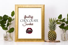 Your place to buy and sell all things handmade Lace Print, Delicious Chocolate, Chocolate Lovers, Kitchen Decor, Place Card Holders, Messages, Ink, Frame, Prints
