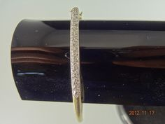 Gold Pre Loved 9ct Yellow Gold 63.1mm 50Diamond Oval Clip Bangle 9.7grms | eBay