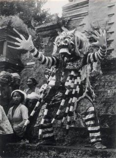 Rangda, Bali, circa 1952, by the French photographer André Martin (1928-1999).