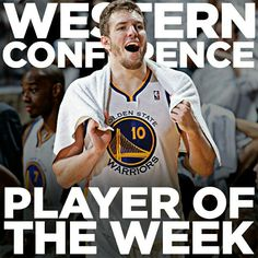Congratulations to @dlee042 on being named the @nba Western Conference Player of the Week. The forward averaged 18 points, 14.3 rebounds and 7.8 assists while helping lead the #Warriors to a 4-0 record last week.
