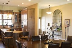 Morton Buildings custom home interior in Spring, Texas.