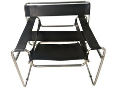Wassily Style Round Chrome Chair on Chairish.com