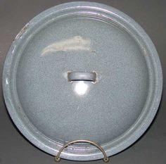 Vintage Grey Mottle Enamelware Graniteware Lid 8 7/8 inches $9.95