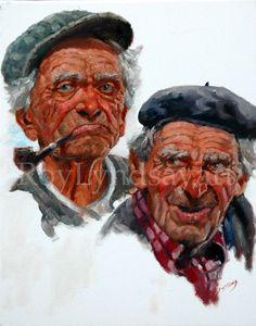 Painting Irish Art.The brothers, oil on canvas Ireland