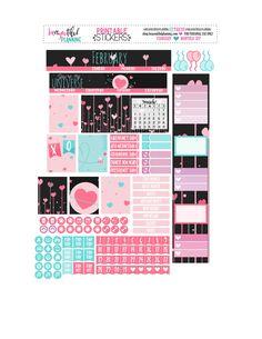 February Monthly – Free Printable – BEaYOUtiful Planning