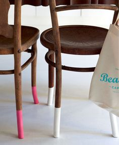 Colour-dipped furniture