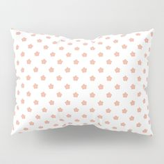 It's time to upgrade your bedding. Our Pillow Shams merge creativity with premium fabrics, bringing unique style to your bedroom. Each of our pillow covers feature designs printed on soft, fuzzy 100% polyester for colorfully vibrant images.       - Available in Standard or King sizes   - Comes in a set of 2  #peach #flower #polka #dots #polkadots #tiny #little #wee #blossom #fresh #calm #Springtime #Pastel #Flowery #garden #fresh #girly #Mia #society6 #Pillow #Sham