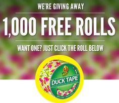 GRATIS Duck Tape Rollo, sólo 1,000 Disponibles!!  http://www.cuponesparanosotras.com/2014/05/gratis-duck-tape-rollo-solo-1000.html