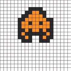 Sapce Invaders 6 Perler Bead Pattern / Bead Sprite