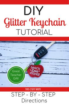 DIY Glitter Acrylic Keychain Tutorial Looking for an original DIY teacher appreciation gift? Check out this glitter acrylic keychain tutorial for step by step directions on how to create a keychain teachers are sure to love! How To Make Keychains, Diy Keychain, Keychain Ideas, Teacher Appreciation Gifts, Teacher Gifts, Mod Podge Glitter, How To Make Glitter, Acrylic Keychains, Diy Epoxy
