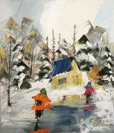 Petit chalet - Albini Leblanc - Galerie d'art Iris, Baie-Saint-Paul - Charlevoix