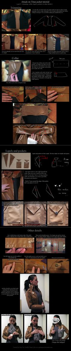 Attack on Titan jacket tutorial - details. by neptunyan.deviantart.com on…