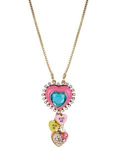 HEART CANDY MULTI Y NECKLACE MULTI accessories jewelry necklaces fashion