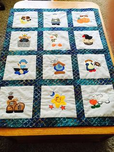 Suzanne Russell made this adorable quilt with Nursery Rhymes Applique!! This set is available for Instant Download at designsbyjuju.com