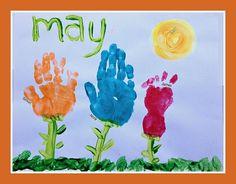 Our Handprint and Footprint Calendar - Andrea Dekker Daycare Crafts, Baby Crafts, Toddler Crafts, Christmas Crafts, Kid Crafts, Calender Print, Kindergarden Art, Craft Activities For Kids, Craft Ideas