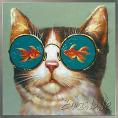 Aliexpress.com : Buy Cat Oil painting On Canvas Wall Pictures Paintings For Living Room Wall Art Canvas plattle knife modern abstract hand painted from Reliable paintings tango suppliers on Eazilife Oil Painting  | Alibaba Group