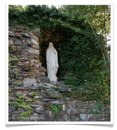 A pretty Mary in the Grotto at Spring Hill College photographed by Renee Dent Blankenship and available at theRDBcollection