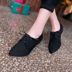 Aliexpress.com: Comprar Nuevo 2014 Oxford para mujer zapatos con cordones de belleza venta al por mayor mujeres zapatos para la señora zapatos planos de moda rojo + negro + azul + rosa de calzado titular confiables proveedores de Look to buy buy.