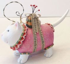 Whimsical Cat Christmas Ornament Decoration