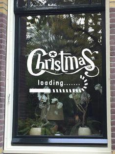 #Christmas #loading.......  Maak deze #DIY #raamdecoratie voor de #Kerstmis met dit direct te downloaden #sjabloon voor een #raamtekening. Dat doe je super simpel door het bestand te downloaden, op te slaan en te printen vanaf je computer. Te koop in #etsyshop #krijtstifttekening , ontwerp door #cecielmaakt