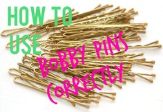 Wow, I never knew how to use a Bobby pin right? Good to know tips! Now, I won't need a million Bobby Pins...