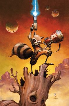 Rocket Raccoon by Skottie Young #RocketRaccoon #MarvelComics #GuardiansOfTheGalaxy