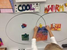 Warm Cool Venn Diagram for Kindergarten - Jamestown Elementary Art Blog