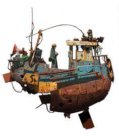 space boat ship concept art