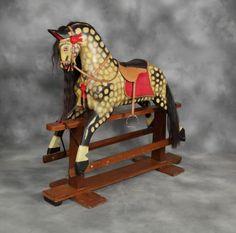 Huge Collinsons rocking horse restored by Stevensons
