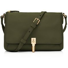 Elizabeth and James Cynnie Micro Crossbody ($310) ❤ liked on Polyvore featuring bags, handbags, shoulder bags, green purse, green crossbody, crossbody shoulder bags, leather purse and leather cross body purse
