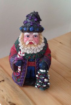 Christmas Santa Figurine Candle by BlkBttrflyDsgns on Etsy