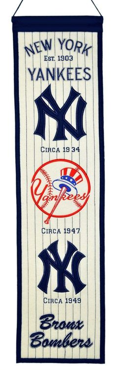 Hot new product: MLB New York Yank... Buy it now! http://www.757sc.com/products/mlb-new-york-yankees-heritage-banner-8x32-wool-embroidered?utm_campaign=social_autopilot&utm_source=pin&utm_medium=pin