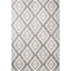 Black and white Aztec rug