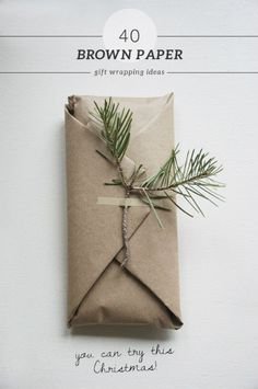 40 Beautiful And Frugal Brown Paper Wrapping Ideas